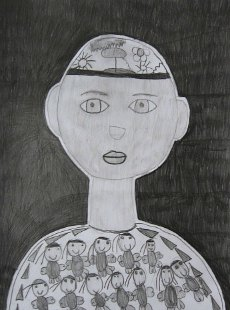 Portret dečaka Stefana, crtež - olovka 6H,HB,4B