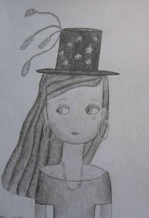 Portret Jelene, valerski crtež - olovka
