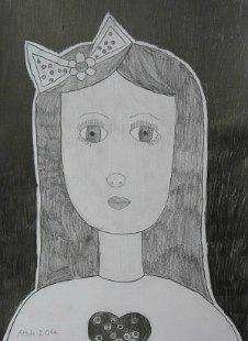 Portret Tine, crtež - olovka 6H,HB,3B