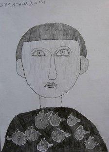Portret Andreja, crtež - olovka 6H,HB,B3