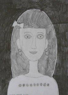 Portret devojčice Julijane, crtež - olovka 6H,HB,B3