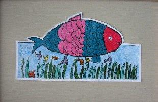 Ribica Vanja, prostorni crtež - olovke u boji