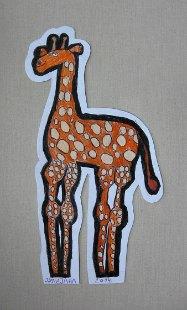 Žirafa Irina, prostorni crtež - olovke u boji