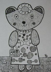 Meca Tufnica, crtež-tanki crni fomaster