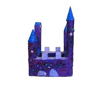 Dvorac Jelica-objekat(kolaž tehnika)