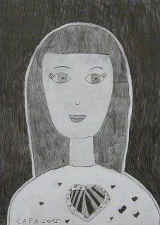 Portret Marte,crtež-olovka(6H,HB,3B)