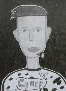 Portret Bogdana,crtež-olovka(6H,HB;3B)