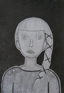 Portret Dine,crtež-olovka(6H,HB;4B)