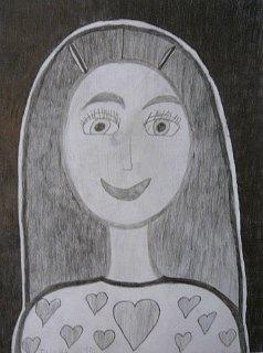 Portret Jane,crtež-olovka(6H;HB;4B)