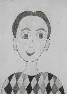 Portret Mihajla,crtež-olovka(6H,HB,3B)