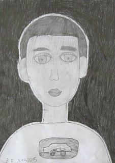 Portret Alekse,crtež-olovka(6H,HB,3B)