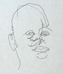 Slepo crtanje, portret
