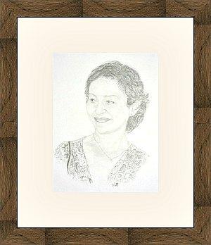 Uramljivanje portreta, drveni ram za slike