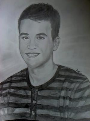 Ovaj crtez, tj. portret radila sam za jednu osobu... radjen je iskljucivo suhom olovkom HB=2...