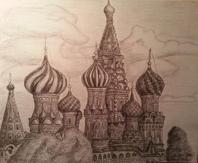 Hram Vasilija Blazenog skica