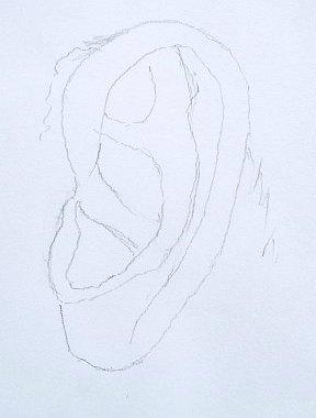 Kako Nacrtati Uvo - Olovka