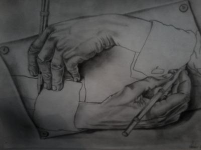 Ruka crta ruku