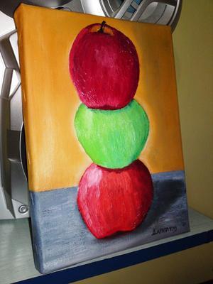 Ulje na platnu~jabuke~