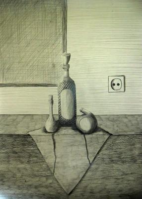 Mrtva priroda radjena olovkom