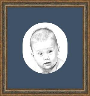 Uramljivanje portreta, ovalni paspartu