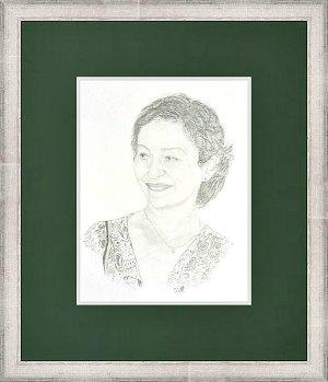 Uramljivanje portreta, srebreni ram za slike