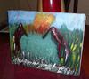Abstrakt (ptice na baru)-Akril na platnu