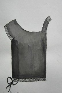 Bluza,crtež-lavirani tuš