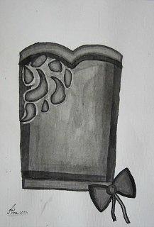 Svečana bluza,lavirani crtež