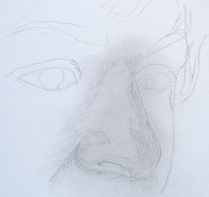 crtanje olovkom, kako nacrtati nos