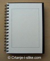 Nacrtajte granice na papiru za crtanje