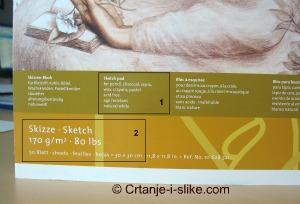 Oznake na papiru za crtanje