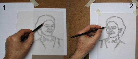 Precrtavanje pomoću paus papira